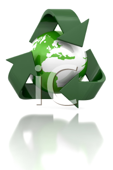 Royalty Free Clipart Image of a Recyling Globe