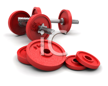 Royalty Free Clipart Image of Weights