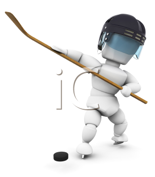 Royalty Free Clipart Image of a Hockey Player