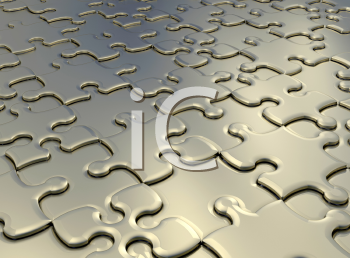 Royalty Free Clipart Image of a Jigsaw Puzzle