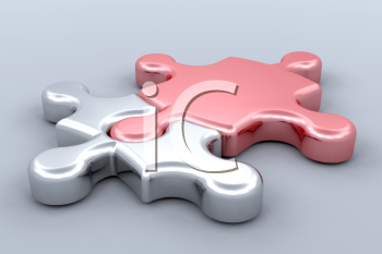 Royalty Free Clipart Image of Puzzle Pieces
