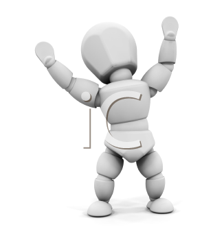 Royalty Free Clipart Image of a Happy Person