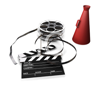 Royalty Free Clipart Image of Movie Making Items