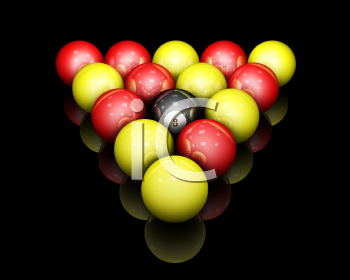 Royalty Free Clipart Image of Racked Pool Balls