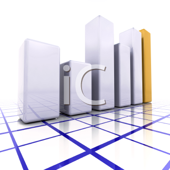 Royalty Free Clipart Image of a Rising Profits