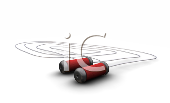Royalty Free Clipart Image of a Skipping Rope