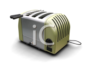 Royalty Free Clipart Image of a Kitchen Toaster