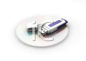 Royalty Free Clipart Image of a USB Pen Drive
