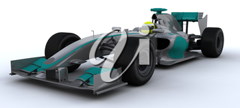 3D Render of a F1 Racing Car