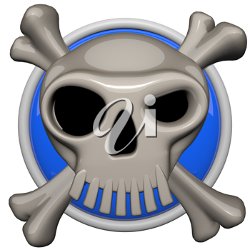 Skull icon, danger or warning concept.