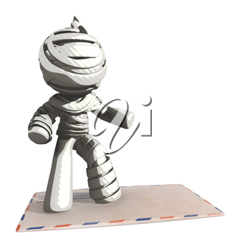 Mummy or Personal Injury Concept surfing on Envelope