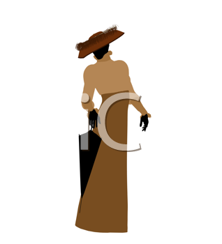 Royalty Free Clipart Image of a Victorian Woman