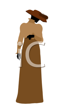 Royalty Free Clipart Image of a Victorian Female