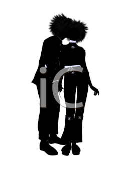 Royalty Free Clipart Image of a Couple