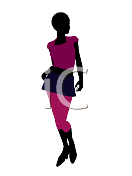 Royalty Free Clipart Image of a Woman in Pink
