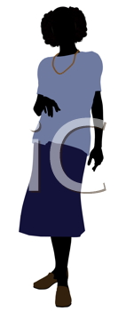 Royalty Free Clipart Image of a Young Grandma