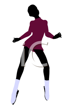 Royalty Free Clipart Image of an Ice Skater