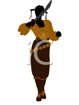 Royalty Free Clipart Image of a Female Pirate