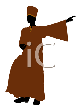 Royalty Free Clipart Image of a Man in a Robe
