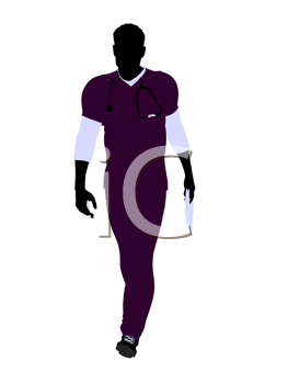 Royalty Free Clipart Image of a Male Doctor