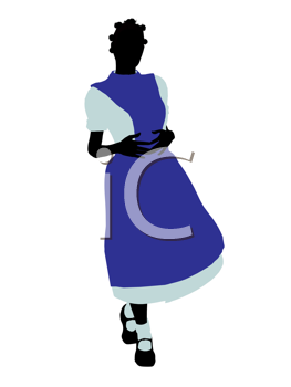 Royalty Free Clipart Image of Alice in Wonderland