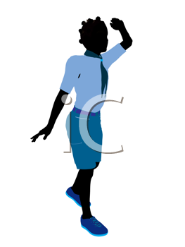Royalty Free Clipart Image of a Girl Looking for Something