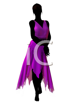 Royalty Free Clipart Image of a Female Genie
