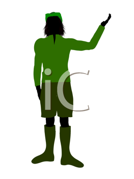 Royalty Free Clipart Image of Peter Pan
