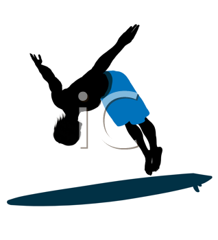 Royalty Free Clipart Image of a Surfer