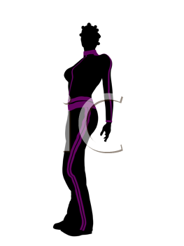 Royalty Free Clipart Image of a Woman in Workout Clothes