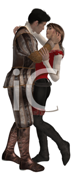 Royalty Free Clipart Image of a Prince and a Pirate