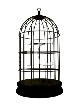 Royalty Free Clipart Image of a Birdcage