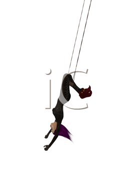 Royalty Free Clipart Image of a Trapeze Artist
