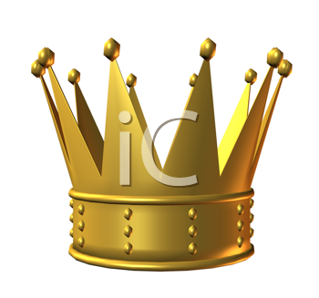 Royalty Free Clipart Image of a Gold Crown