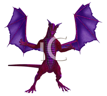 Royalty Free Clipart Image of Dragon
