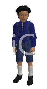 Royalty Free Clipart Image of a Little Boy