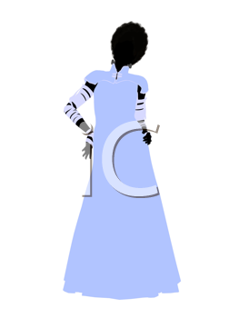 Royalty Free Clipart Image of a Silhouette of the Bride of Frankenstein