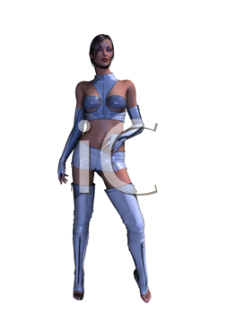 Sci fi woman standing up