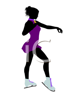 Royalty Free Clipart Image of a Figure Skater