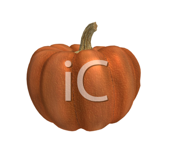 Royalty Free Clipart Image of a 3D Pumpkin