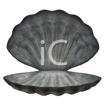 Royalty Free Clipart Image of an Oyster Shell