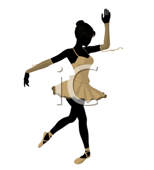 Royalty Free Clipart Image of a Ballerina
