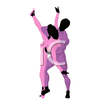Royalty Free Clipart Image of Ballet Dancers