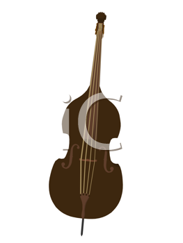 Royalty Free Clipart Image of an Upright Bass