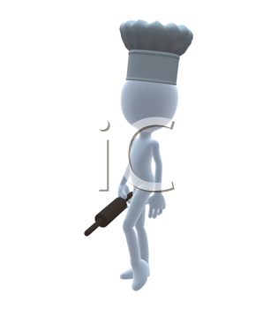 Royalty Free Clipart Image of a 3D Chef