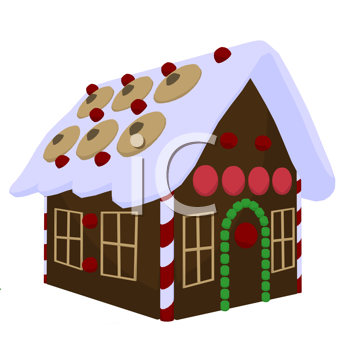 Ginger bread house on a white background
