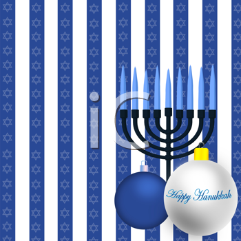 Royalty Free Clipart Image of a Hanukkah Background