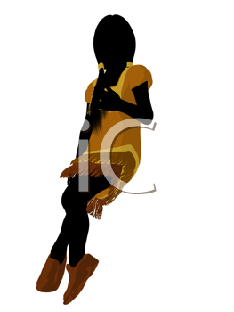 Royalty Free Clipart Image of a Native American Girl