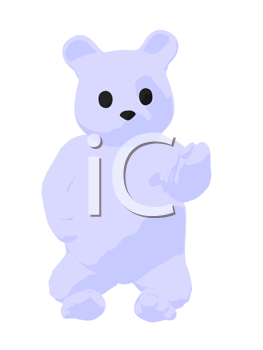Royalty Free Clipart Image of a White Bear