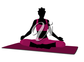Royalty Free Clipart Image of a Woman Doing the Butterfly Pose